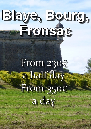 Price of the transportation to Blaye, Bourg, Fronsac