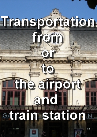 Transfert to and from the airport and train