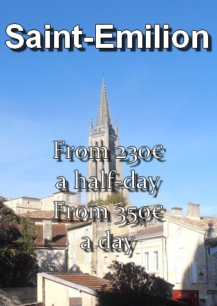 Price of the transportation to Saint-Emilion