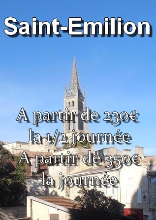 Prix du transport vers Saint-Emilion